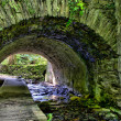 HDR - River Flowing through the Stone Tunnel — Stock Photo