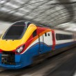 Fast Passenger Train with Motion Blur — Stock Photo