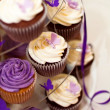 Wedding Cake -Closeup on Beautiful Yummy Cupcakes — Stock Photo #7476342