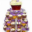 Wedding Cake - Colorful Cupcakes isolated on White — Stock Photo #7476395