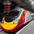 Fast Passenger Speed Train with Motion Blur — Stock Photo #7476419