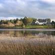 Modern House by the Lake in UK. — Stock Photo #7477288