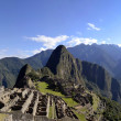 Panorama of Machu Pichu with Huayna Picchu - Stock Photo