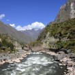 Wild Urubamba river flowing through valley — Stock Photo