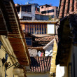 Old Colonial Houses in Cuzco Peru - Zdjcie stockowe