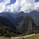 genähte Panorama der Ruinen von Machu picchu — Stockfoto