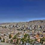 La Paz Bolivia from Killi Killi Viewpoint — Stock Photo