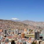 City of La Paz Bolivia from Killi Killi Viewpoint — Stock Photo