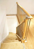 Modern House Interior - Stairs with Chrome Railing — Stock Photo