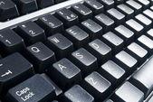 Black computer keyboard — Stock Photo