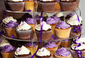 Wedding Cake - Bunch of Yummy Colorful Cupcakes — Stock Photo