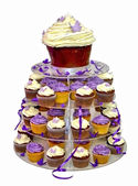 Wedding Cake - Colorful Cupcakes isolated on White — Стоковое фото