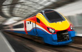 Fast Passenger Speed Train with Motion Blur — Stock Photo