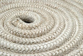 Detail of a reel of an old twisted nautical rope — Stockfoto