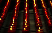 Vertical Rows of Red Church Candles — Foto de Stock