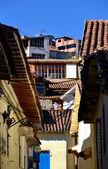 Antiguas casas coloniales en cusco perú — Foto de Stock