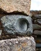 Typical Incan Stonework - Door Holder — Stock Photo