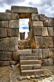 Brama w ruiny sacsayhuaman - efekt hdr — Zdjęcie stockowe
