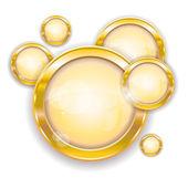 Gold circle frames — Stock Vector