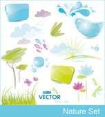 Set of nature elements — Stock Vector
