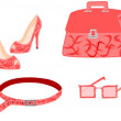 Vector de stock : Pink fashion collection