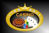 Casino banner — Stock Vector