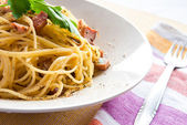 Spaghetti alla carbonara — Stock Photo
