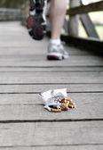 убежать от табачная — Стоковое фото