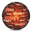 Money ball - Stockvectorbeeld