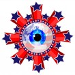American eye — Stock Vector