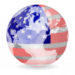 Royalty-Free Stock Vector Image: American flag ball