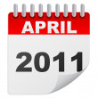 April 2011 — Vector de stock #7502366