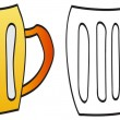 Mug of beer — Stock Vector