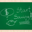 Vecteur: Start saving