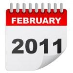 February 2011 — Stock Vector #7502972