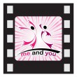 Me and you — Stock Vector