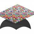 Stock Vector: Graduation cap