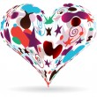Colorful heart — Stock Vector