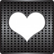 Metal heart label — Stock Vector