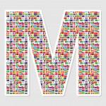 alfabet m — Stockvector
