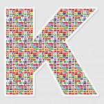 Letter k — Stock Vector #7503315