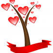 Love tree — Vector de stock