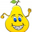 Happy pear — Stock Vector #7503647