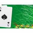 Poker banner — Stock Vector