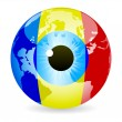 Eye of romania — Vector de stock #7503767