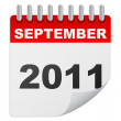 September 2011 — Vector de stock #7503796