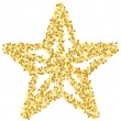 Stock Vector: Golden star