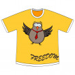 Stock Vector: Freedom t-shirt
