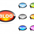 Stock Vector: Blog tags