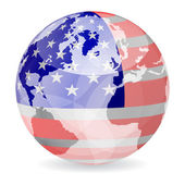American flag ball — Stock Vector